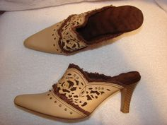 Vintage high heels  Leather Womens Size 7 Heel 31/2 by Finders2, $18.00