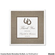 Country Rustic Horseshoe On Burlap Wedding