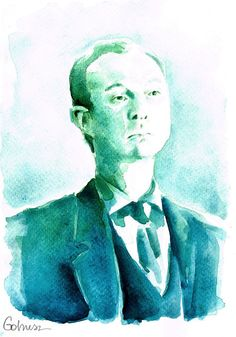 A Study in Watercolor - Mycroft Holmes by Gohush.deviantart.com on @deviantART