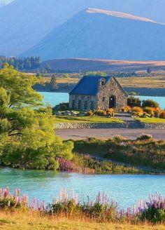 Lago Tékapo, Nueva Zelanda