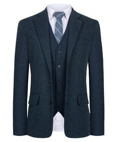 Hanyome Men Suit Slim Fit Mixed Wool Blend Mixed Chevron Vintage Custom Suit Modern Cut Black Three Piece Suit, 3 Piece Suit Wedding, Groom Attire, Groom Suits, Slim Fit Suits, 3 Piece Suits, Fitted Suit, Groom Style, Black Suits