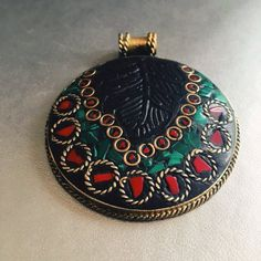 Unique Handcrafted Pendant from Afghanistan. #Gemstone #jewellery #handmade #authentic #vintage #artisan #work /// For international delivery please contact me