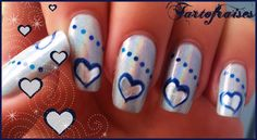 blue hearts nails 2 by Tartofraises.deviantart.com on @deviantART