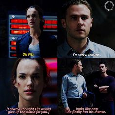 """""""I always thought Fitz would give up the world for you. Looks like now he finally has his chance"""" - Ward and Fitzsimmons #AgentsOfSHIELD"""