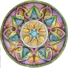 RADIANT HEALTH MANDALA I am peaceful, calm, vibrant love. I allow that love to restore me daily!