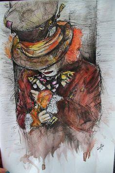 tim burton/old school alice in wonderland art work - Google Search
