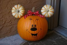 Minnie Mouse Pumpkin - my granddaughter loves Minnie & Mickey