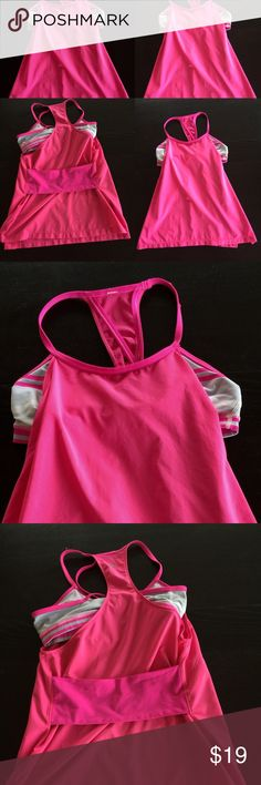Lululemon Athletica Amped No Limit tank raspberry Lululemon Athletica tank size 2-4 pink. Size tank missing, its not indicated inside the inner bra. The size tag was hang and label is cut off. It's small size 2-4 lululemon athletica Tops Tank Tops