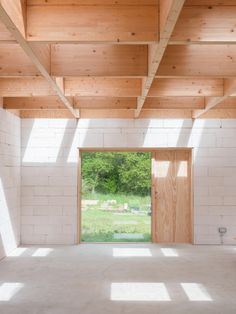 Förstberg Ling, Markus Linderoth · House for two artists · Divisare Architecture Office, Residential Architecture, Contemporary Architecture, Timber Beams, Architectural Section, Cottage Interiors, Home Projects, Floor Plans, House Design