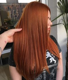 74 Natural Ginger Copper Hair Color Styles For 2019 Serving deep copper realness, HUNTY! Ginger Hair Color, Hair Color And Cut, Ginger Hair Dyed, Alburn Hair Color, Hair Color Highlights, Hair Inspo, Hair Inspiration, Copper Balayage, Hair Color Auburn