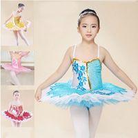 Mais novo de alta qualidade bailarina criança vestido de crianças meninas vestido da dança Ballet meninas Tutu vestido de festa