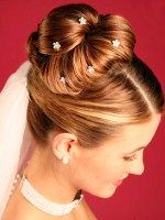cute wedding updo