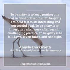 Angela Duckworth on being gritty: