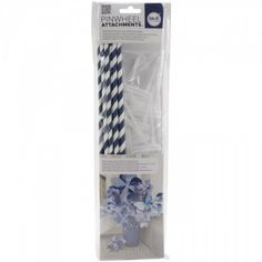 Pinwheel Attachments-Navy by We R Memory Keepers Online Craft Store, Craft Stores, Needlework Shops, We R Memory Keepers, Punch Board, Craft Accessories, Paper Straws, Pinwheels, Bright Colors