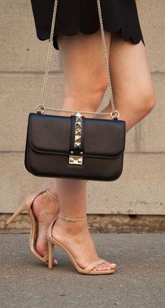 Valentino Rock Stud clutch. ♥ purse bag Handbag Brands | Tote Bags | Designer bags | Cross body bags | hobo bags | handbags | shoulder bags | #style #fashion #bags SHOP @ CuteHandbags.NET