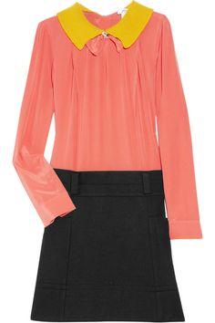 Sonia by Sonia Rykiel - Silk and merino wool-jersey dress