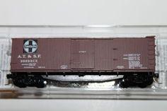 N SCALE MICRO TRAIN LINE 39060 SANTA FE A.T.S.F. 40' WOOD BOXCAR #38693