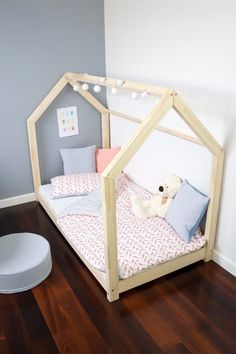 Details about Children Bed House Frame Bed Kids Beds 29 Dimension Kinderbett Toddler Bed Frame, Diy Toddler Bed, Kids Beds With Storage, Kids Bunk Beds, Kids Storage, House Beds For Kids, House Frame Bed, Kids Bedroom Furniture, Childrens Beds
