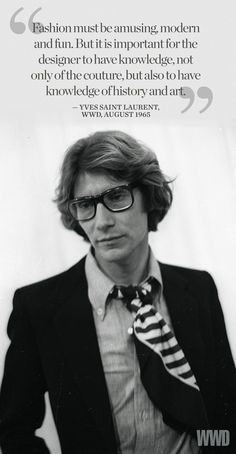 Yves Saint Laurent on 'What is Modern?' [Photo by Reginald Gray]