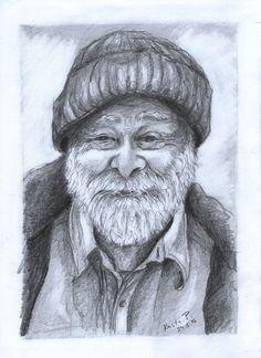 Portrait, pencil, artist Kristýna Pavluvčíková.