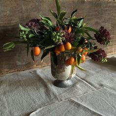 Kumquats and fritallaria
