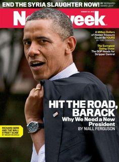 Amerykański 'Newsweek' już żegna Obamę. Mocna okładka: 'Spadaj, Barack'