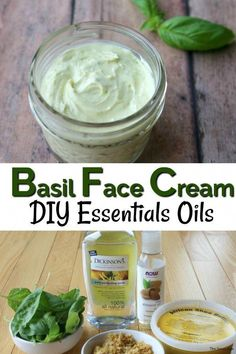 Is your garden overflowing with basil? Combine your garden basil with essential oils to make this healthy face cream! #essentialoilsskincare #garden #basil #facecream #diy #healthyliving #FaceCreamForWrinkles Homemade Beauty Products, Best Face Products, Lush Products, Basil Essential Oil, Essential Oils, Face Cream For Wrinkles, Face Creams, Natural Face Cream, Dark Spots On Face