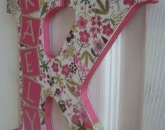 Letra de pared personalizado rosa Damasco por inspiremecrafts