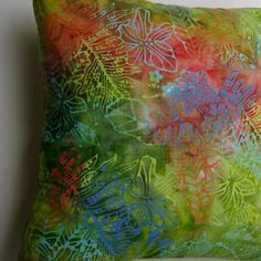 Tropical Leaves Flowers Batik Handprint Coastal by beachsidestyle