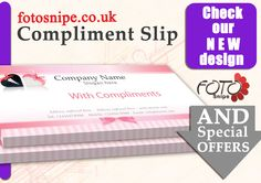 Compliment Slip  Compliment Slips    Brand Identity
