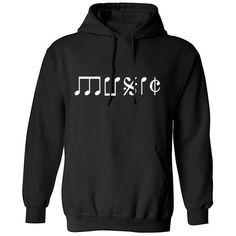 Music Lettering Unisex Hoodie K0133