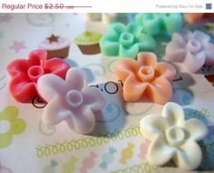 Summers End Sale 10 Assorted Pastel  Flower by LunasSecrets, $2.00