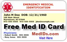 medical alert wallet card template - free printable medical id cards medical id