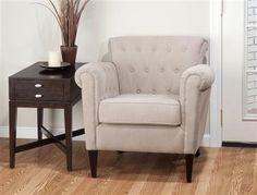 Jofran Linen Tufted Club Chair JFN-SERENA-CH-LINEN