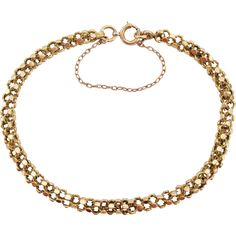Fine English Victorian Ladies - 15t Solid Gold Bracelet - 10.2 grams - Superior Quality Victorian Ladies, Victorian Gold, Solid Gold Bracelet, Superior Quality, English, Chain, Lady, Bracelets, Jewelry