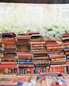 Decor Vintage Photo - Stacks of vintage books