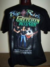 Big and Rich concert Shirt Cowboy Troy and Two Foot Fred, Gretchen Wilson SZ XL