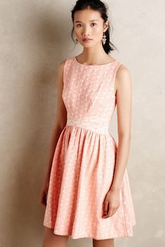 Pink dress from Anthropologie - perfect for daytime weddings