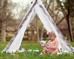 Kids Photo Props Tent Wood Frame and Overlaping Lace Tent Cover Children Photography Prop Outdoor Photo Prop Kids Photo Prop Tent Photography, Photography Props Kids, Photography Mini Sessions, Spring Photography, Family Photography, Outdoor Photo Props, Kids Photo Props, Outdoor Photos, Photo Ideas