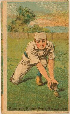 [Tom Forster, Milwaukee Team, baseball card portrait]