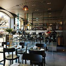 the bar at Nobis Hotel, Stockholm Cafe Bar, Cafe Restaurant, Restaurant Design, Restaurant Seating, Restaurant Interiors, Cafe Menu, Hotel Stockholm, Stockholm Sweden, Copenhagen Design