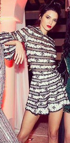 Sassy:Kendall Jenner kept a low profile at mom Kris' Christmas Eve bash. But finally on Sunday a look at her holiday dress could be seen in an Instagram sister Khloe Kardashian shared