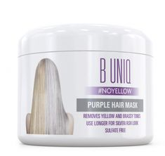 Purple Hair Mask for Blonde, Platinum & Silver Hair - Banish Yellow Hues: Blue Masque to Reduce Brassiness & Condition Dry Damaged Hair - Sulfate Free Toner - 7 Fl. Blonde Hair Mask, Hair Mask For Damaged Hair, Bleach Blonde Hair, Cool Blonde Hair, Brunette Hair, Purple Hair, Cool Brown Hair, Purple Shampoo For Blondes, Braids