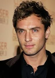 Jude Law is one of the actors I can see in the role of Chance. It's the dark hair and blue eyes. Of course, we'd have to call in makeup to scar up one side of his face. Jude Law, Mens Haircuts Receding Hairline, Oval Face Men, Oval Faces, Keratin Shampoo, Oval Face Hairstyles, Actrices Hollywood, Most Handsome Men, British Actors