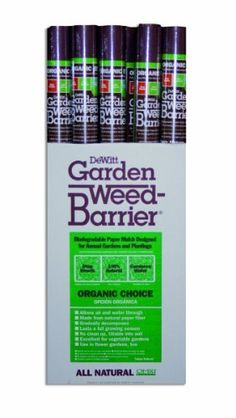 DeWitt NAT380 Natural Garden Weed-Barrier by DeWitt. $27.16. No clean up, tillable into soil. Allows air and water through. 100-percent biodegradable. DeWitt natural garden weed-barrier is made from all natural cellulose fibers. It is a 100-percent biodegradable paper mulch that decomposes at the end of the season. This garden mulch effectively eliminates weeds, helps reduce erosion, can moderate soil temperatures and can be worked in to the soil after the growing...