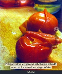 Jak łatwo obrać pomidora? - pomysły, triki, sposoby, lifehacki, porady Stuffed Peppers, Vegetables, Food, Stuffed Pepper, Essen, Vegetable Recipes, Meals, Yemek, Stuffed Sweet Peppers