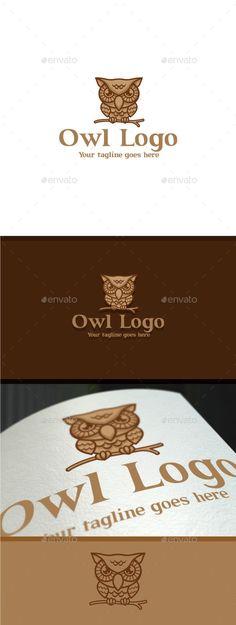 Owl Logo Template PSD, Vector EPS, AI Illustrator. Download here: https://graphicriver.net/item/owl-logo/17559854?ref=ksioks