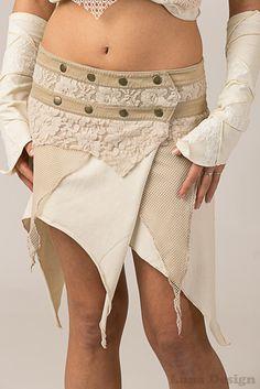 Lush Layers Wrap Around Pixie Skirt - burning man by LunaDesignn on Etsy