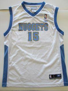 NBA Carmelo Anthony #15 Denver Nuggets Jersey by RBK, youth  L (14-16) #Reebok #DenverNuggets
