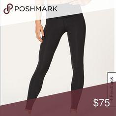 79f5767a0c2 Black Lululemon leggings Black lululemon leggings. Full on Luon. 💝 Logo is  on back